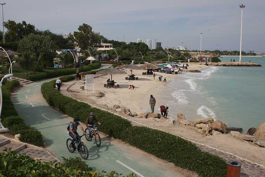 مسیره دوچرخه سواری جزیره کیش