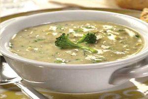 سوپ قارچ و اسفناج