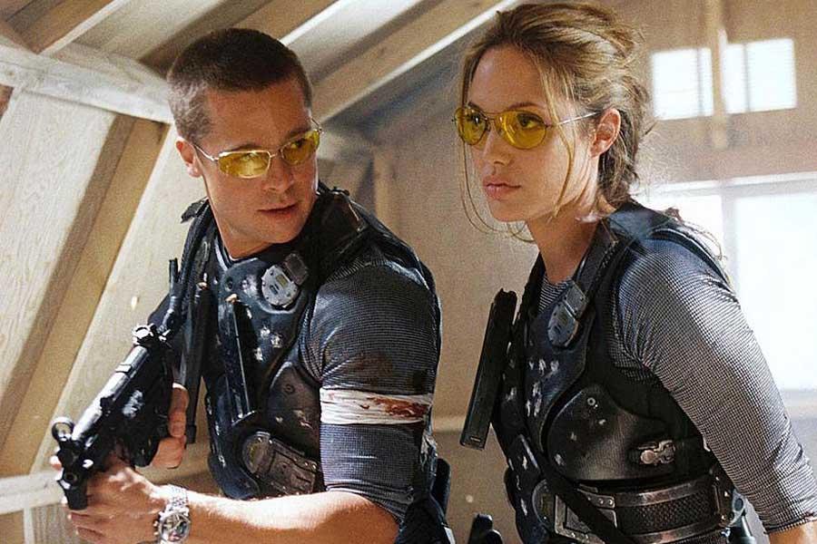برد پیت و آنجلینا جولی در فیلم سینمایی آقا و خانم اسمیت